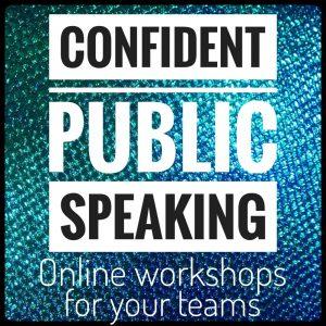 Groups: Confident Public Speaking online workshops